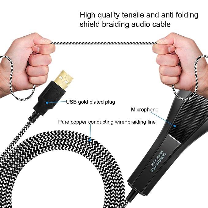 Amazon.com: Tecomax Q5B USB Condenser Microphone Professional Studio Podcasting Recording Mic with Tripod for Computer Laptop: Home & Kitchen