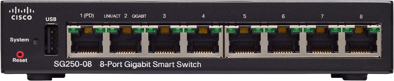 Cisco Sg250 08 Gigabit Smart Switch Mit 8 Ports Computer Zubehör