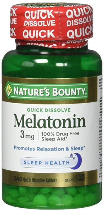 Image Unavailable. Image not available for. Color: Natures Bounty Melatonin 3 Mg ...