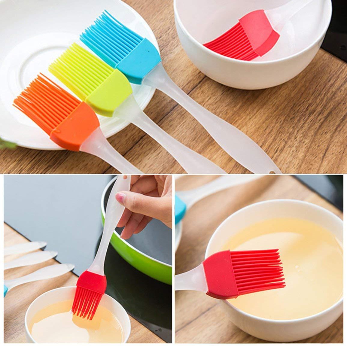 F/ácil de limpiar Suave silicona Para hornear Para hornear Pan Cocinar Pasteler/ía Crema de aceite Herramientas para barbacoa Pincel de cocina Utensilios de cocina