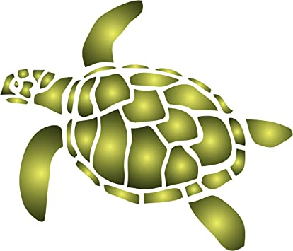 Turtle Stencil - 3.5 x 3 inch (S) - Reusable Sea Ocean Nautical Seas on kitchen flooring ideas, small galley kitchen design ideas, kitchen floor makeovers, kitchen area rugs, kitchen painted floor stencil, kitchen floor tile, stained concrete floor ideas,