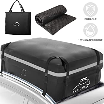 Yuoioyu Car Roof Waterproof Bag Cargo Carrier with Rack