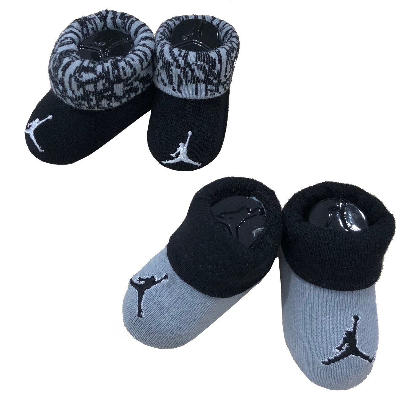 e1e55c95ad0 Nike Michael Jordan Booties 0-6 Months 2 Pairs: Amazon.co.uk: Sports &  Outdoors