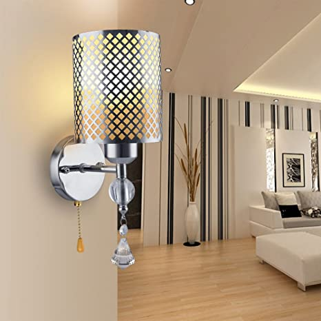 Elitlife E27 Wall Lamp 5W Modern Style Silver Chrome Cover indoor ...