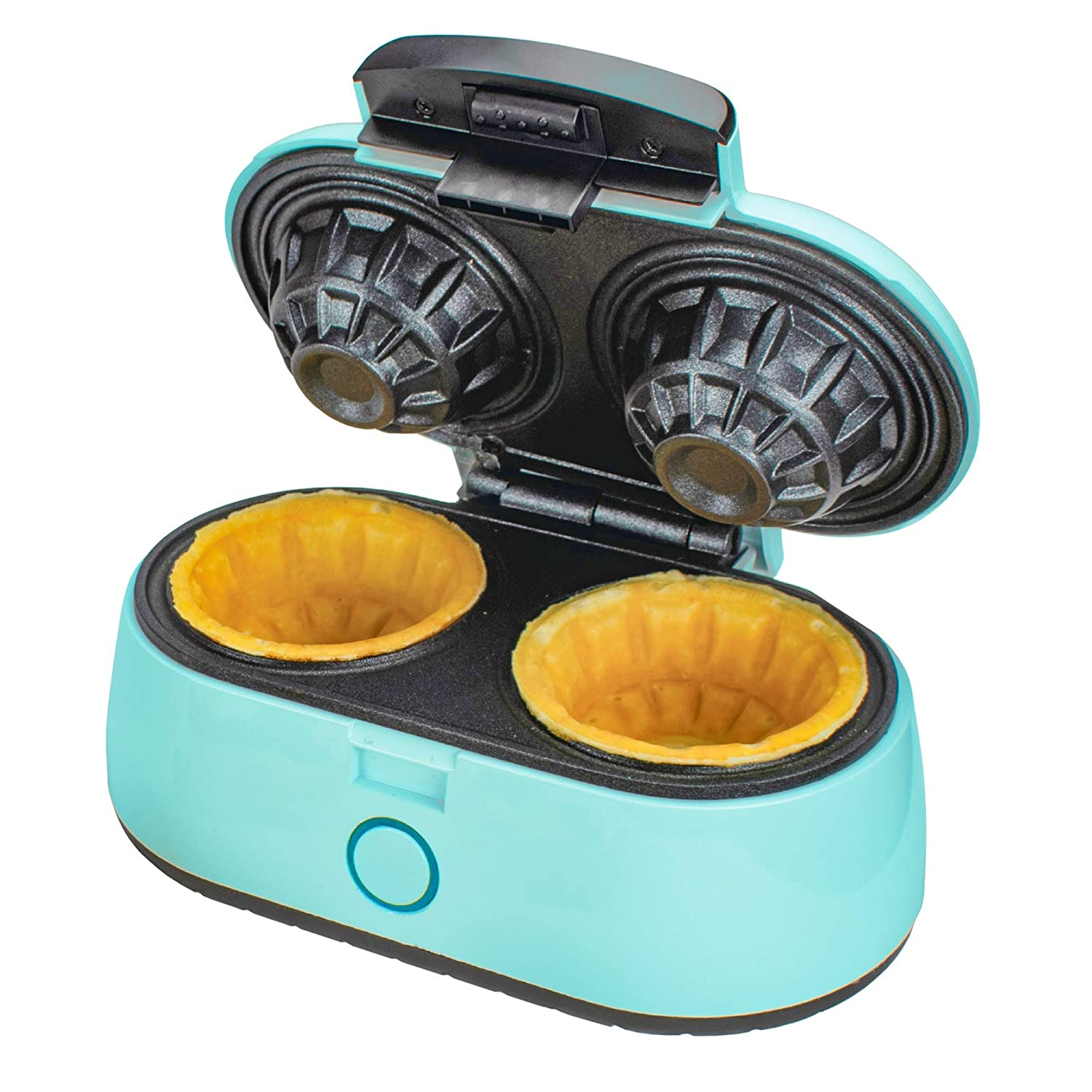 Brentwood TS-1402BL 1000w Double Waffle Bowl Maker, Blue