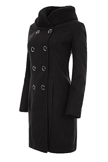 Laeticia Dreams Damen Winter Mantel Jacket Stehkragen XS SML XL