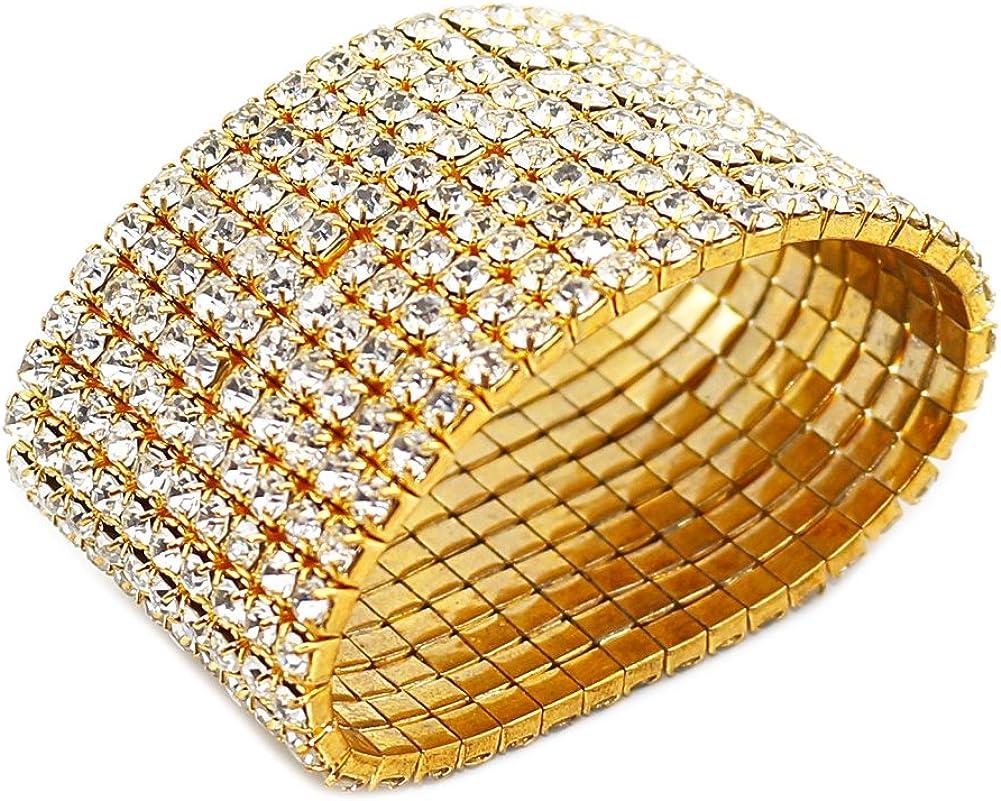 JczR.Y Simple Ocean Wave Bangle Bracelet Adjustable Gold Silver Plated Alloy Open Bracelet Cuff for Women Girls Fashion Sea Beach Wristband Jewelry Silver