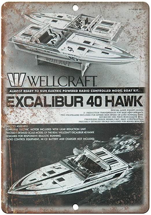 Wellcraft Excalibur 40 Hawk Boat Póster De Pared Metal Retro ...