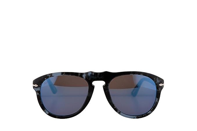 Persol PO0649S gafas de sol w/Gris Espejo lente azul 1062O4 ...