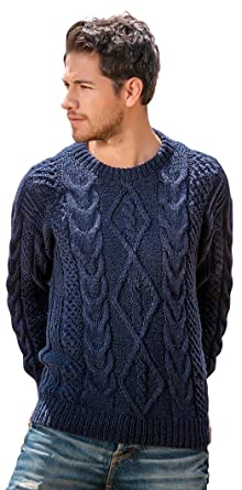 69bddeffdae340 Gamboa - Handwoven Alpaca Sweater - Cable Knit Alpaca Sweater ...