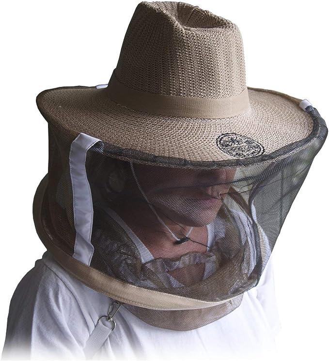 Protective Bee Hat Cap Veil Anti-bee Beekeeper Equipment Tools Cotton Hat