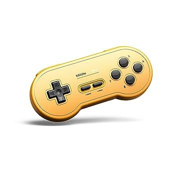 Gam3Gear 8bitdo SN30 GP Amarillo Edition Controller Bluetooth inalámbrico Gamepad para Nintendo Switch, Windows, Android, macOS, Steam con Llavero ...