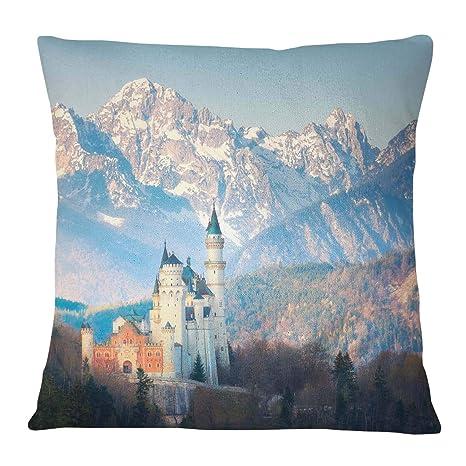 Timingila Azul Satin Fundas de colchón montañas Munich ...
