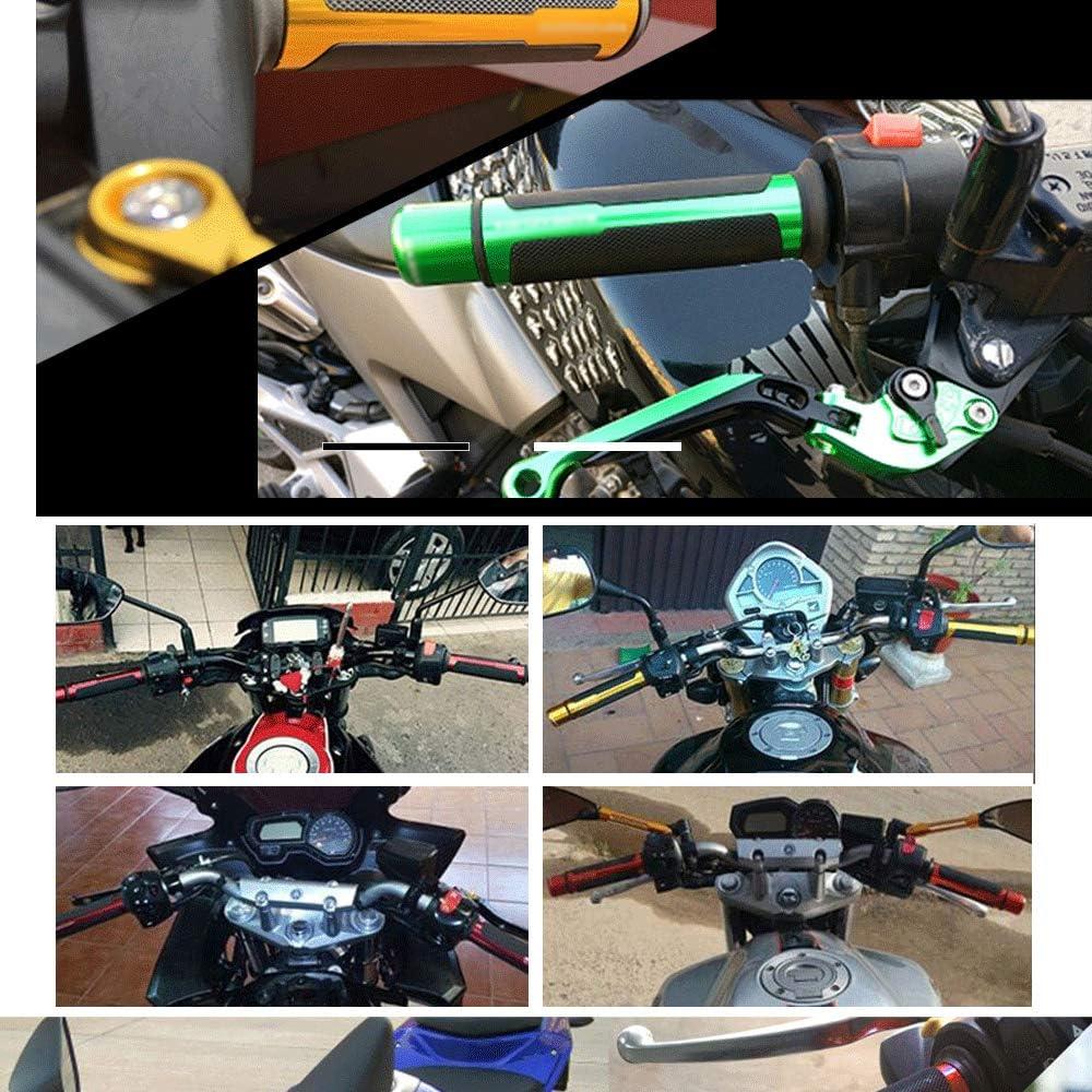 Universal Motorcycle Handlebar Grips Anti-slip Rubber Dirt Bike Pit Bike Black