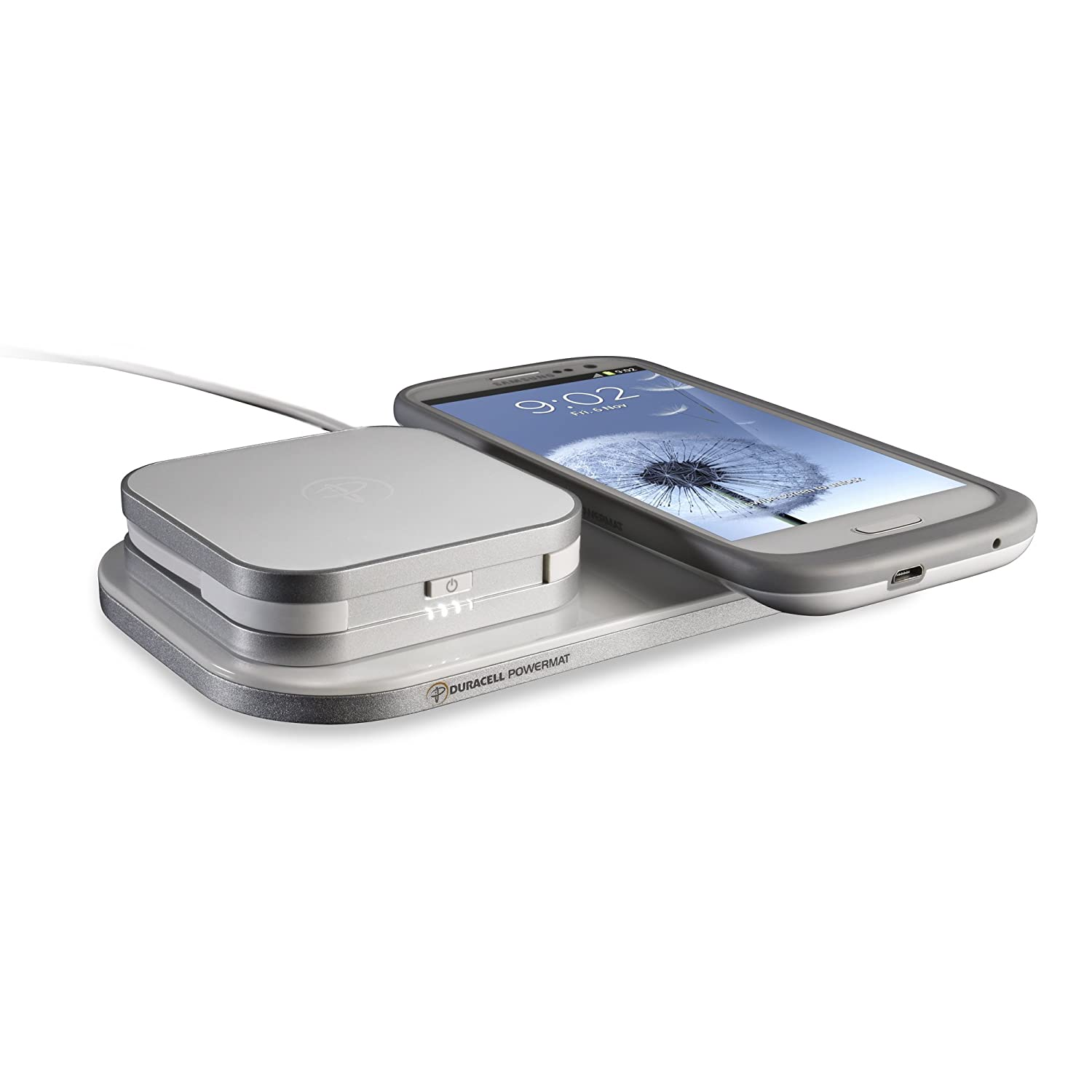 Duracell Powermat 24-Hour Power System for Samsung Galaxy S III - Retail  Packaging - White
