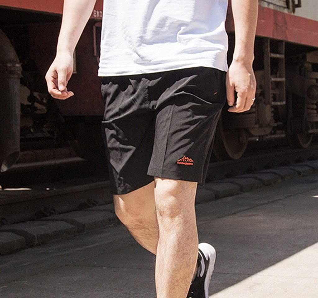 Jixin4you Men Plus Size Outdoor Sports Summer Elastic Beach Shorts