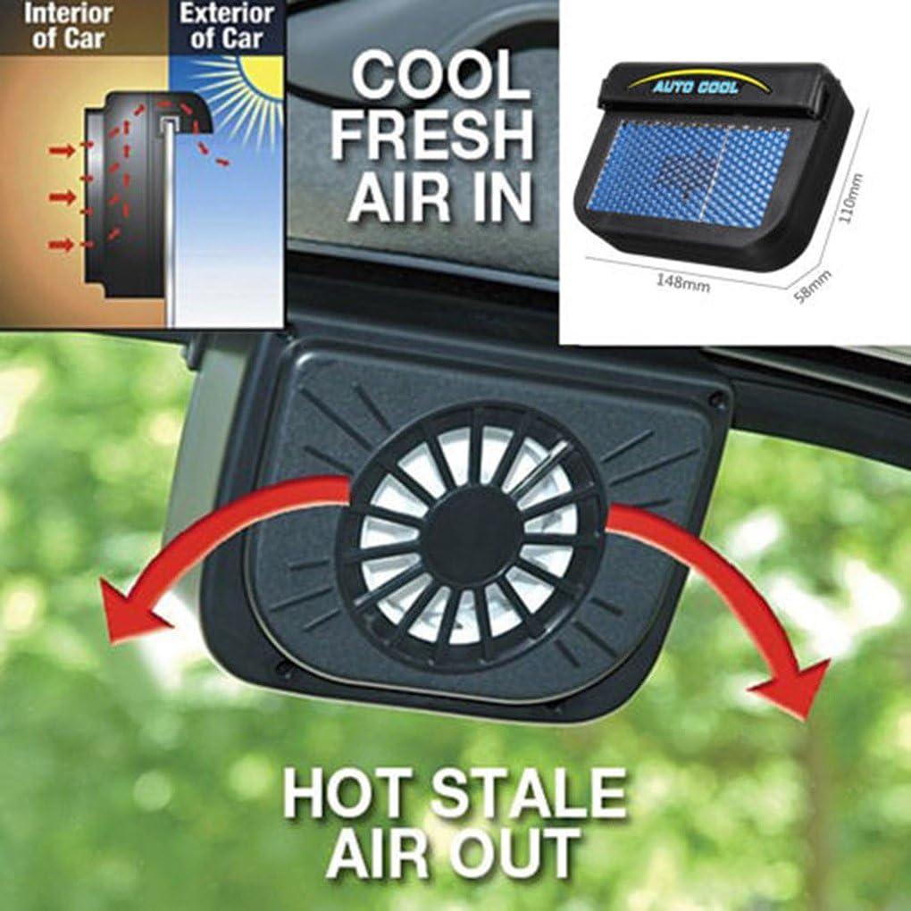 Vkospy Ventana Coche accionado Auto Solar del Ventilador del Parabrisas Salida de Aire Auto del refrigerador del Ventilador de Motor 2545655