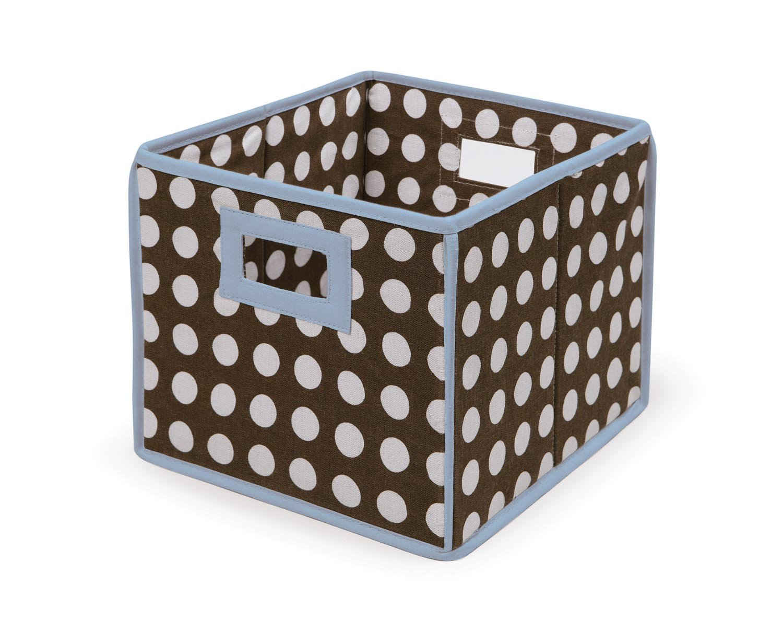 Badger Basket Folding Dot/Blue Nursery Basket/Storage Cube, Cube, Brown Dot B001W2SL8I/Blue by Badger Basket B001W2SL8I, デリパ:9d1517a7 --- ijpba.info