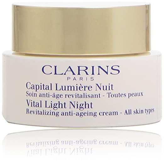 CLARINS Vital Night Revitalizing Anti Ageing Cream, 1.7 Ounce,best wrinkle treatment