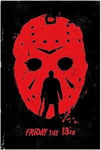 "Noir Gallery Friday 13th Movie Poster 5"" x 7"" Unframed Art Print/Poster"