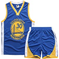 Stephen Curry Kids Baloncesto Jersey, Golden State Warriors Ropa Twill Mesh Sport Juego Chaleco Juego De Chaleco, Top…