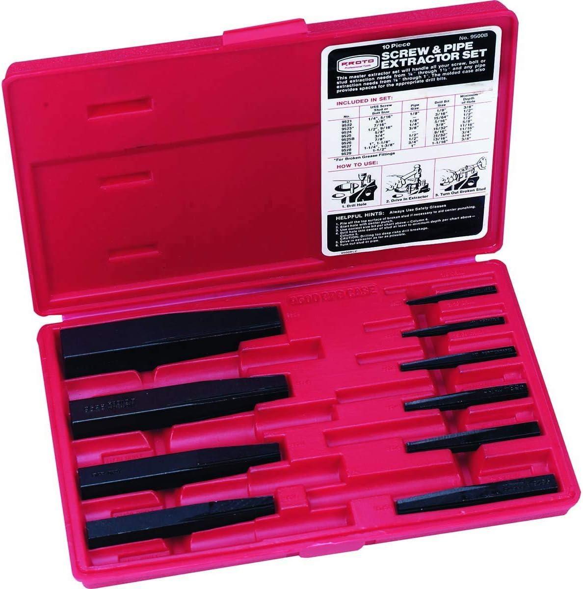 PROTO Screw Extractor Set 10-Extractors