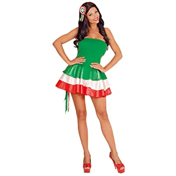 WIDMANN Traje de Miss Italia bandera italiana para las animadoras italiana festa