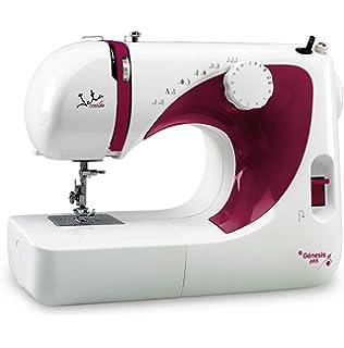 JATA COSTURA MC695 JATA MC695-Máquina de Coser (13 diseños de Puntada), Rojo/Color…