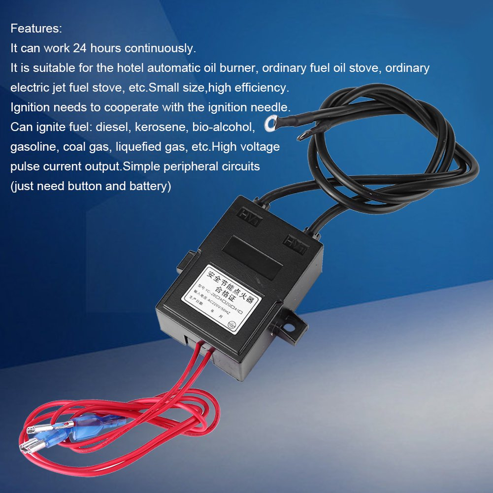 AC 220V High Voltage Generator Module Continuous Igniter 15kV 1A-2A Boost Step-up Power Module