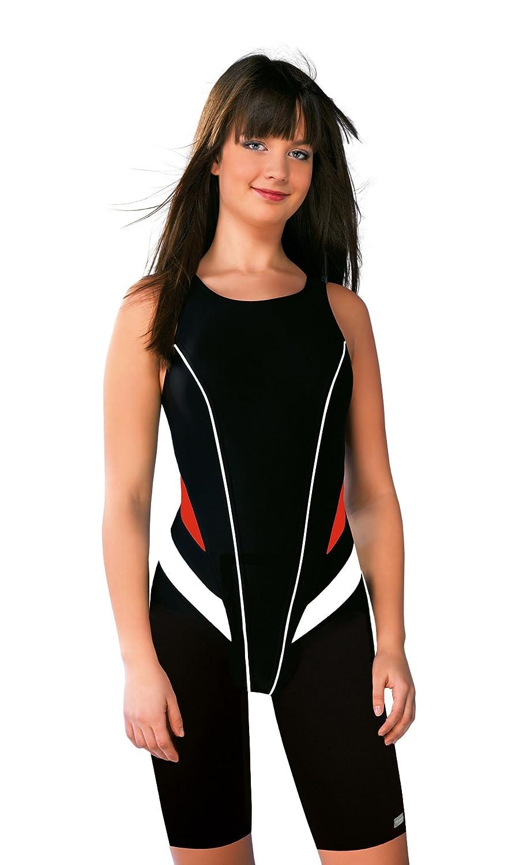 Gwinner Badenzug Sportbadeanzug Trainingsanzug mit verlängerten Beinen für Damen, ideal für Sport- und Leistungschwimmen, sehr bequem und elastisch, aus hochwertigem Material made in EU Record