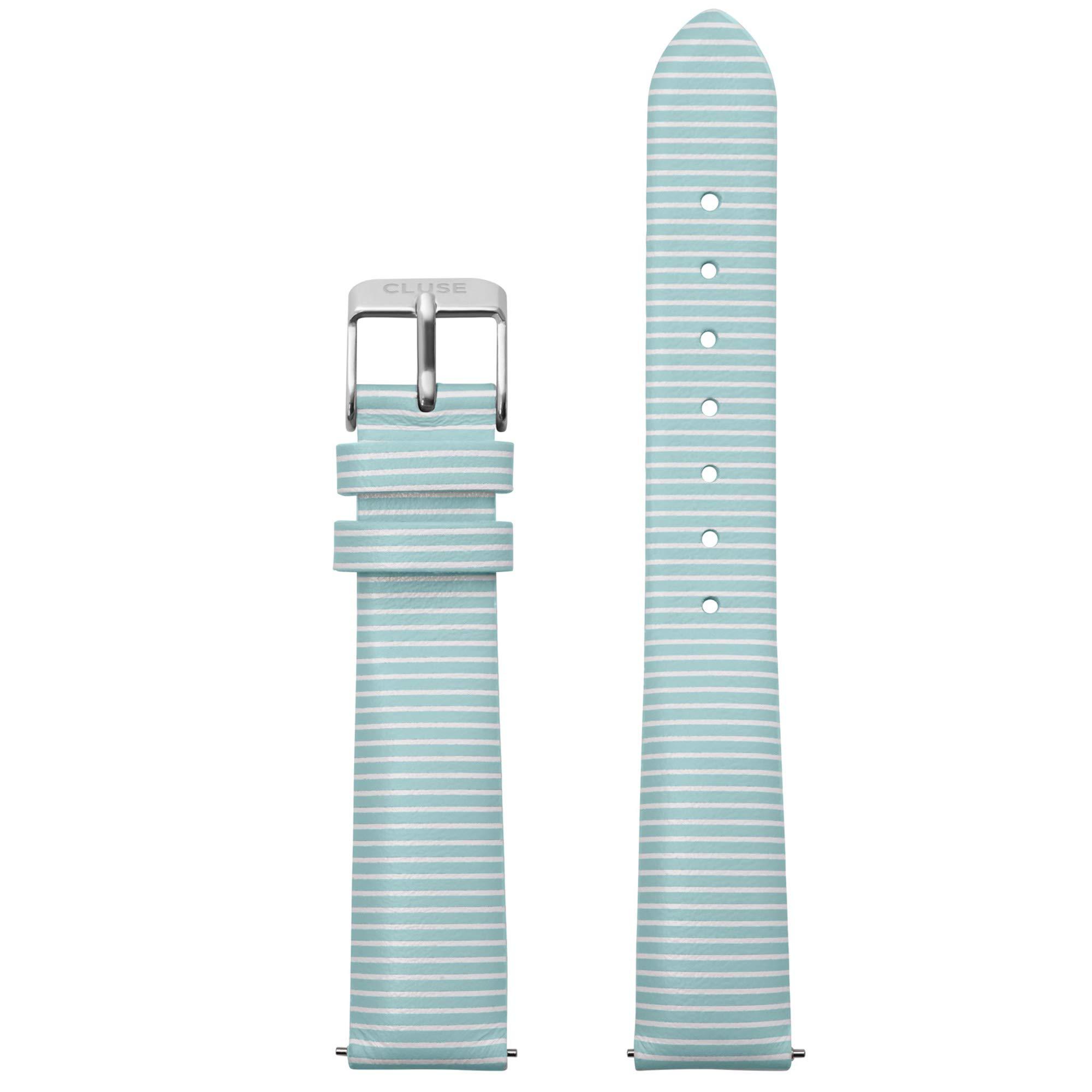 CLUSE Strap Blue Stripes/Silver 16mm Fits:Minuit, La Roche Petite, La Tétragone & Triomphe CLS361 by CLUSE
