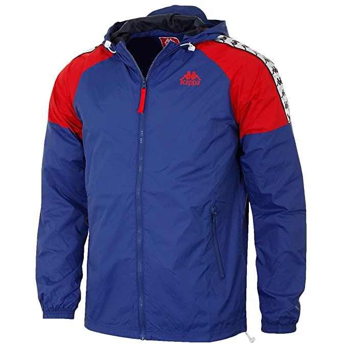 e97031bfeead Kappa Men s Anfield Jacket Training Hooded Top - US L - Blue Dark Red   Amazon.ca  Clothing   Accessories