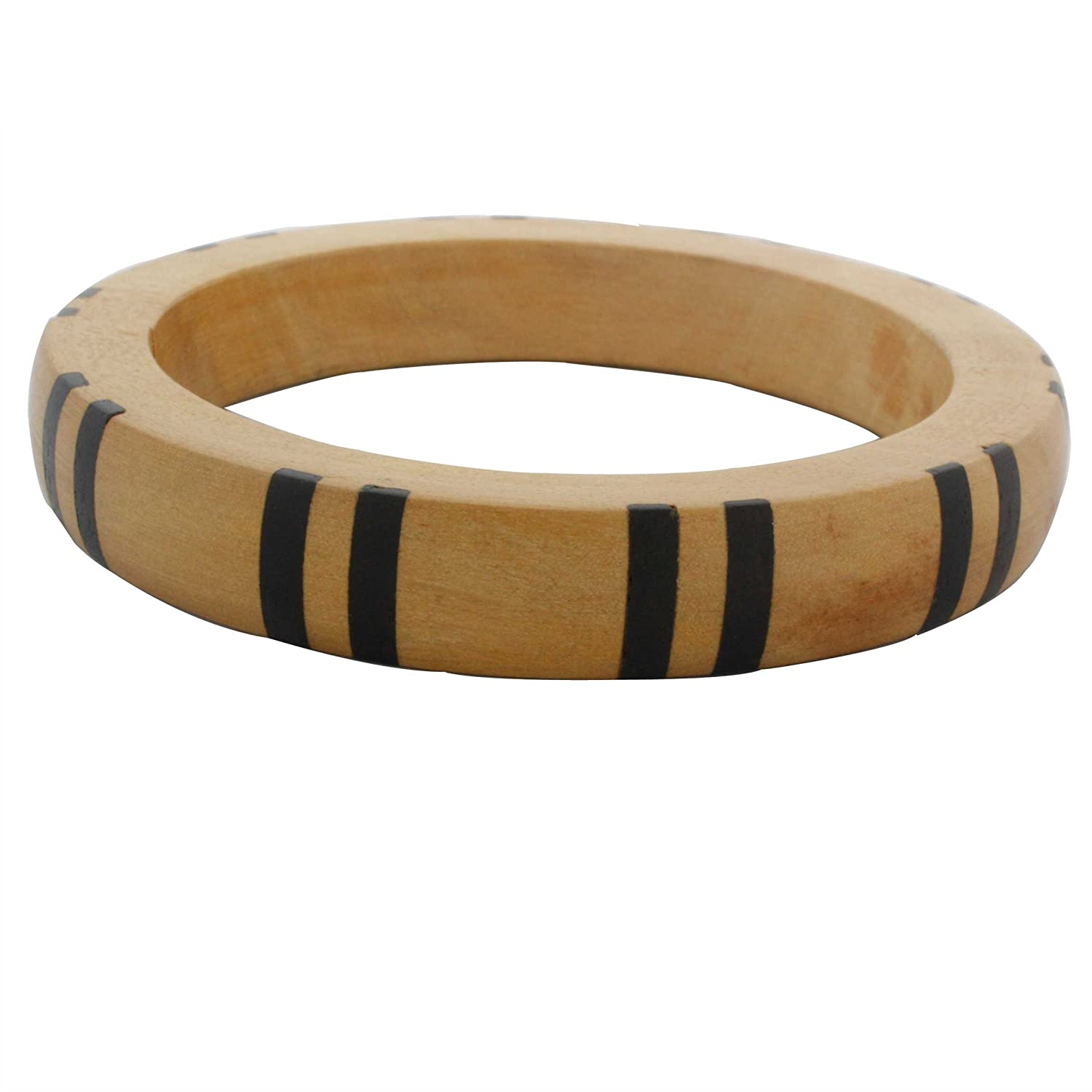 Avatar Sterling 12mm Wide Inlaid Wooden Bangle