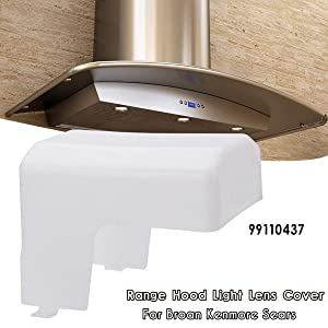 MAYITOP Range Hood Light Lens Vent Cover For Broan Kenmore Nutone 99110437