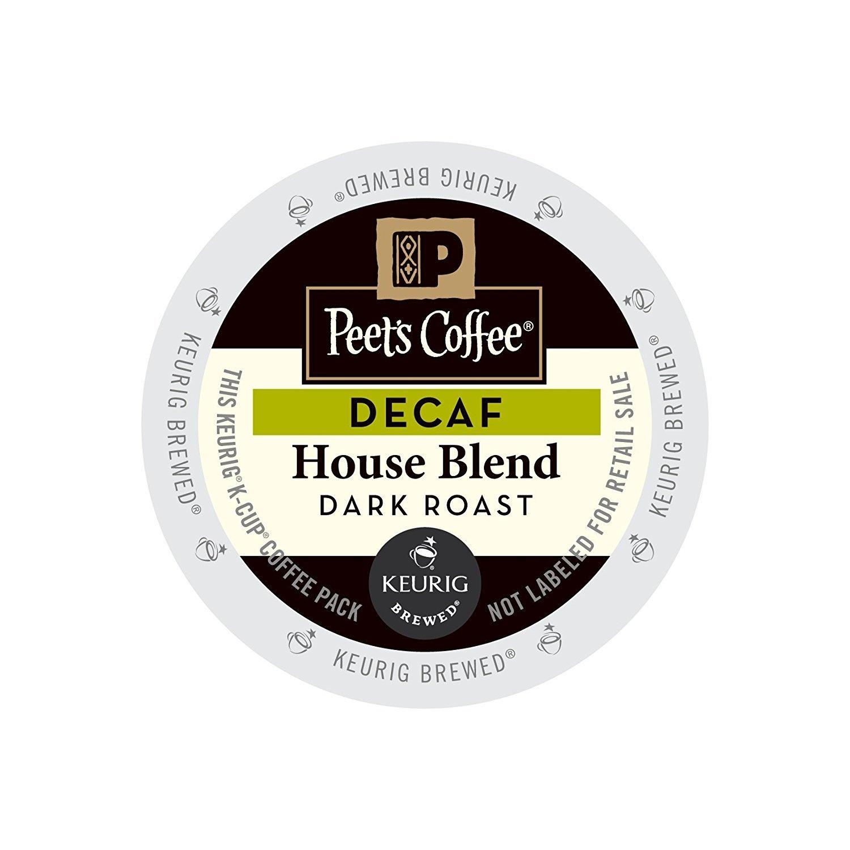 Peet's Coffee & Tea Coffee Decaf House Blend K-Cup Portion Pack for Keurig K-Cup Brewers, 88 Count