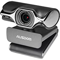 Computer Camera, AUSDOM Widescreen High Definition Webcam 1080P , HD Web Cam USB Plug and Play Network Web Camera with Microphone for Skype Facetime Youtube Yahoo Messenger OBS Live Streaming