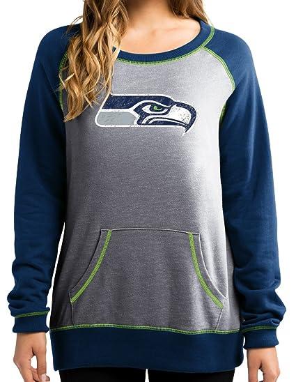 the best attitude cec48 0cd8c Majestic Seattle Seahawks Women's NFL OT Queen French Terry Sweatshirt