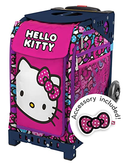"""4aada2491 Zuca """"Hello Kitty Bow Party"""" Sport Insert Bag, Navy Frame with  Flashing"""