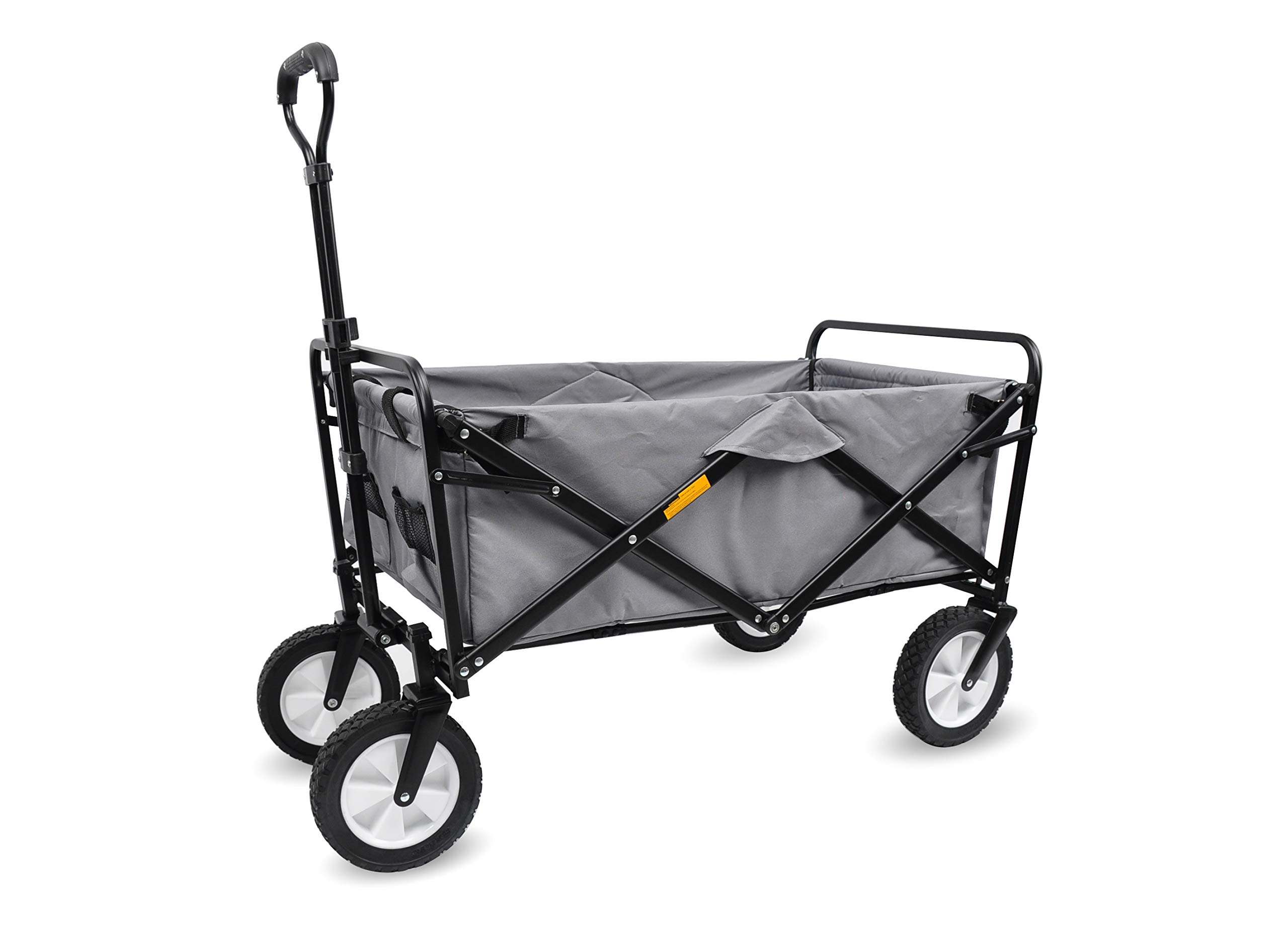 WHITSUNDAY Collapsible Folding Garden Outdoor Park Utility 30'' Picnic Wagon 1 Years Warranty (Dark Grey)