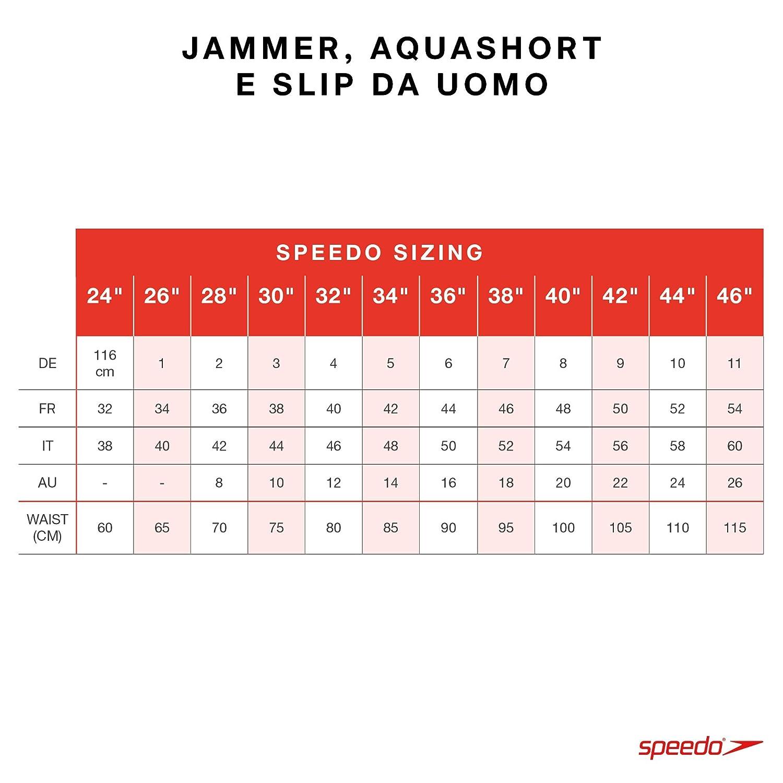 40 Speedo Splice Jammer Multicolore IT 54 Boom Blk//Aqua Splash//Oxid D196 Boxer Aderenti Uomo