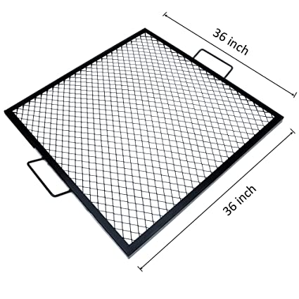Amazoncom onlyfire XMarks Square Fire Pit Cooking Grate 36Inch