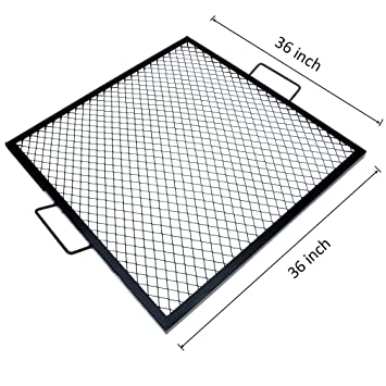round outdoor fire pit grate 36 marks square cooking inch lowes