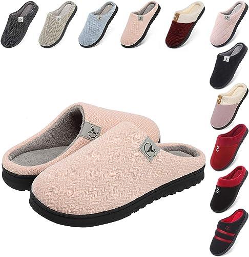 Femme en mousse à mémoire de Pantoufles Maison Chaussures Anti Glisse semelle douce Taille 6