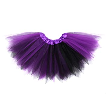 """2b03a9fe2e Image Unavailable. Image not available for. Color: Anleolife 11"""" Kids  Girl Angular Tutu Skirts Dance Birthday Tutus Dress(purple)"""