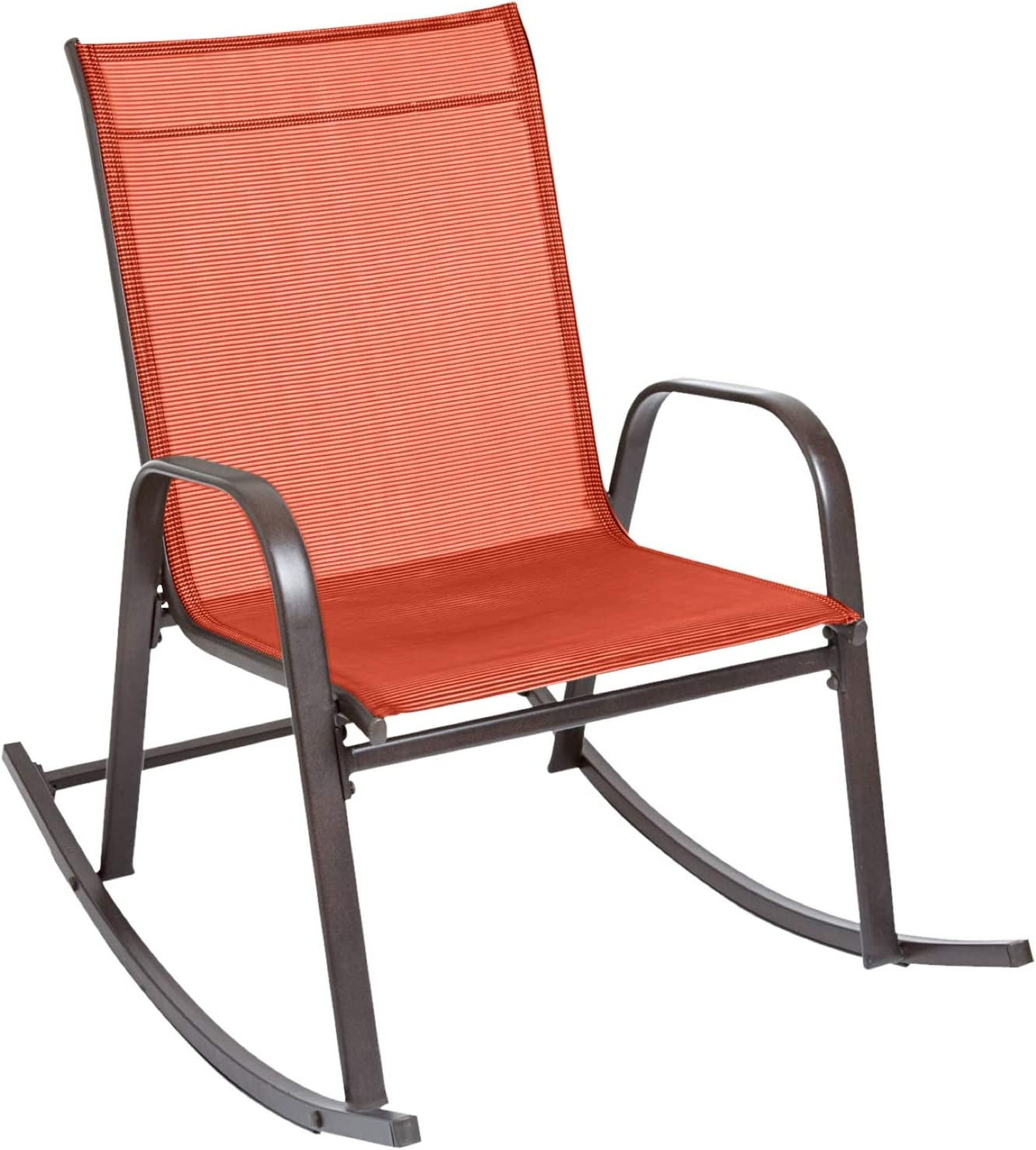BrylaneHome Extra Wide Outdoor Rocker Geranium