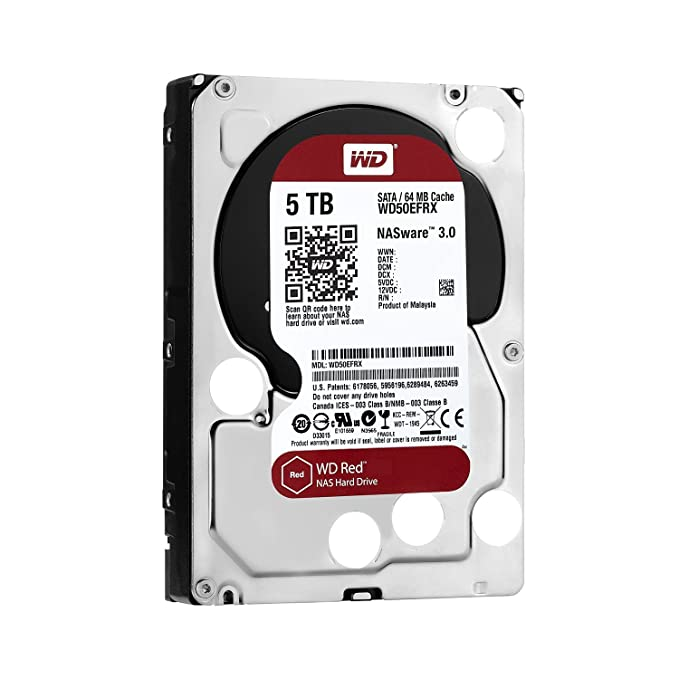 WD Red - Disco Duro para Dispositivos NAS de sobremesa de 5 TB (Intellipower, SATA a 6 GB/s, 64 MB de caché, 3,5