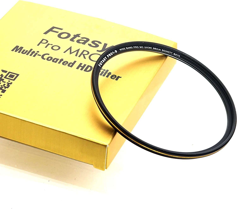 Fotasy 86mm Ultra Slim UV Protection Lens Filter, Nano Coatings MRC Multi Resistant Coating Oil Water Scratch, 16 Layers Multi-Coated 86mm UV Filter, Schott B270 Glass