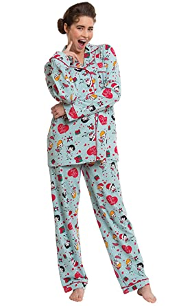 pajamagram i love lucy christmas pajamas mint at amazon womens clothing store