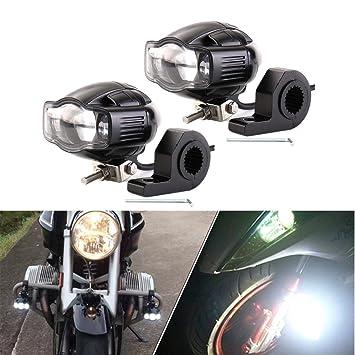 FEZZ Faro Moto COB LED Luz de Niebla Motocicleta Con ...