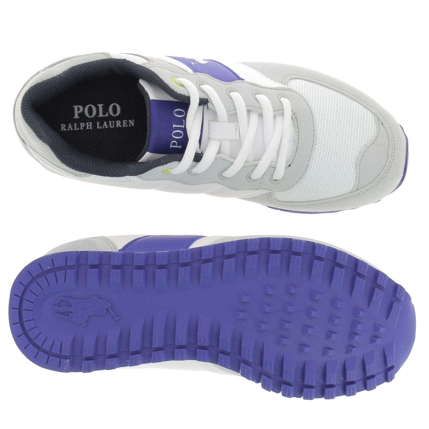 Polo Ralph LaurenSlaton - Zapatillas Unisex Niños, Color Blanco ...